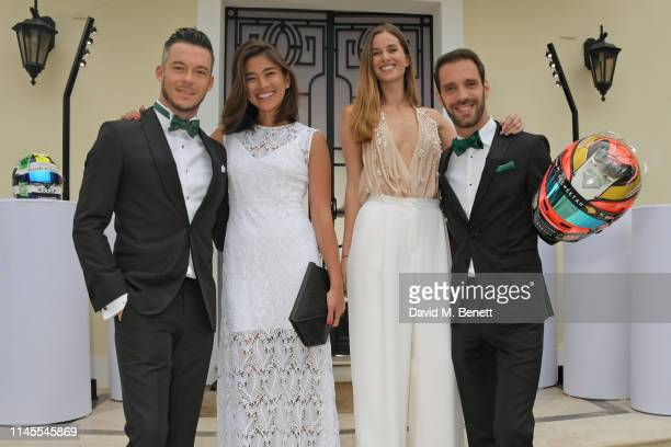 Formula E racing driver Andre Lotterer Takako Sato Lorene Renard and Formula E racing driver JeanEric Vergne attend a private dinner hosted by...