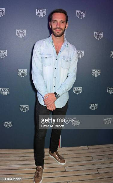 Formula E racing driver JeanEric Vergne celebrates 50 years of the Monaco watch at the TAG Heuer Yacht Party on May 25 2019 in Monaco