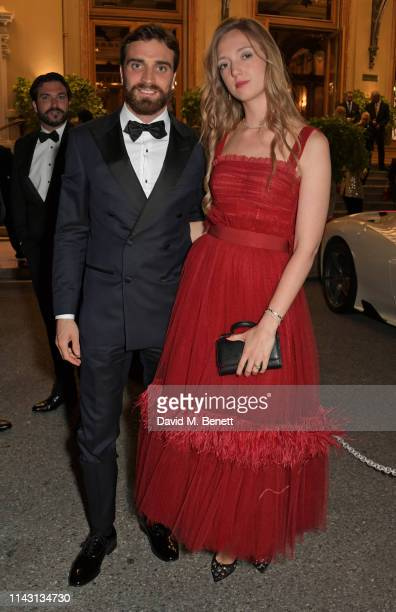Formula E racing driver Jerome d'Ambrosio and Eleonore von Habsburg attend The ABB FIA Formula E 2019 Monaco EPrix 'Casino Royale' Black Tie Event at...