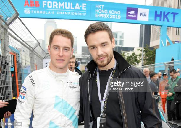 Formula E racing driver Stoffel Vandoorne and Liam Payne attend the ABB FIA Formula E HKT Hong Kong EPrix on March 10 2019 in Hong Kong