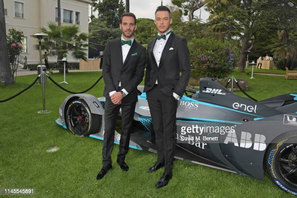Formula E racing drivers JeanEric Vergne and Andre Lotterer attend a private dinner hosted by Alejandro Agag to celebrate the World Premiere of...