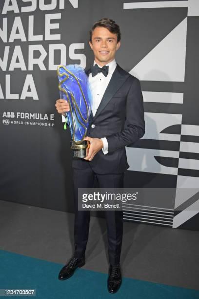 Formula E World Champion Nyck de Vries attends the 2020/21 ABB FIA Formula E World Championship Awards Gala following the BMW i Berlin E-Prix on...