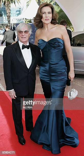 Formula One chief Bernie Ecclestone and wife Slavica arrive at the Laureus World Sports Awards on May 16, 2005 at the Estoril Casino, Estoril,...