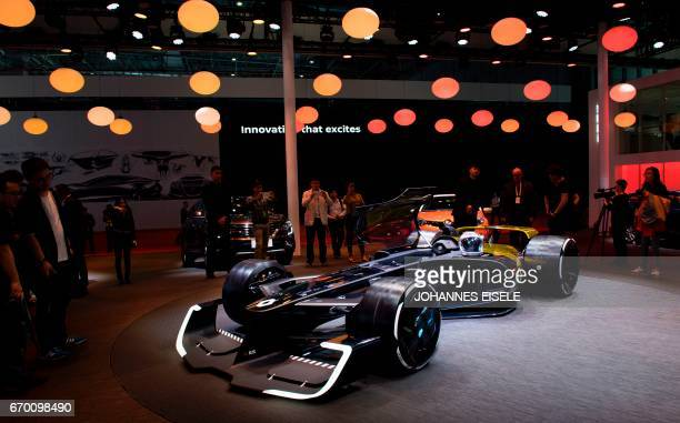 Formula One concept car from French car maker Renault is pictured during a media preview for the 17th Shanghai International Automobile Industry...