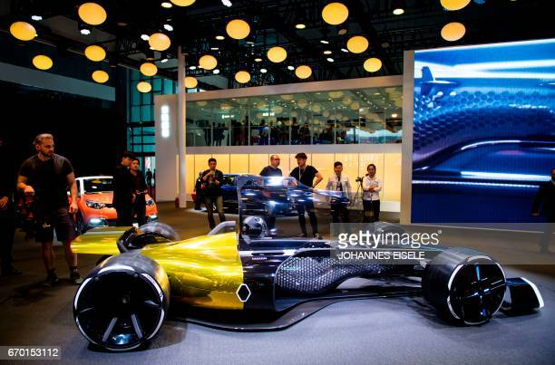 Formula One concept car from French car maker Renault is pictured during the first day of the 17th Shanghai International Automobile Industry...