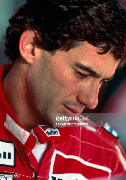 Formula One driver Ayrton Senna of Brazil pictured during testing in Jerez Spain circa February 1991