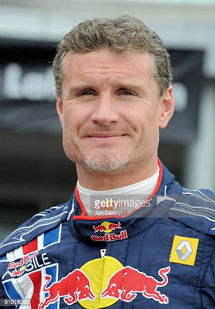 "Formula One driver David Coulthard attends ""Red Bull Racing Showrun"" promotional event at Aeon Lake Town shopping center on September 22, 2009 in..."