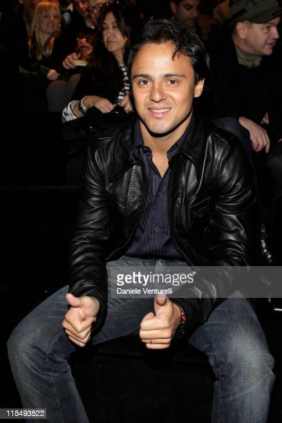 Formula One driver Felipe Massa attends the Dolce Gabbana show as part of Milan Fashion Week Autumn/Winter 2009/10 Menswear on January 17 2009 in...