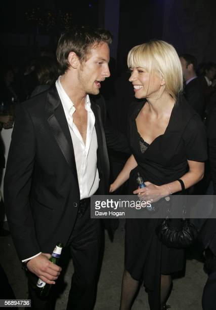 Formula One driver Jenson Button and Radio One DJ Sara Cox attend the after party following the ELLE Style Awards 2006 the fashion magazine's annual...