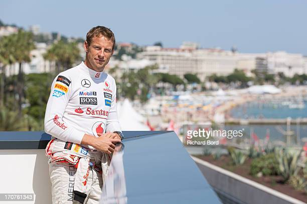 Formula one driver Jenson Button poses during a portrait session as part of Cannes Lions International Festival Of Creativity at Palais des Festivals...