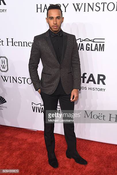 Formula One driver Lewis Hamilton attends 2016 amfAR New York Gala at Cipriani Wall Street on February 10 2016 in New York City