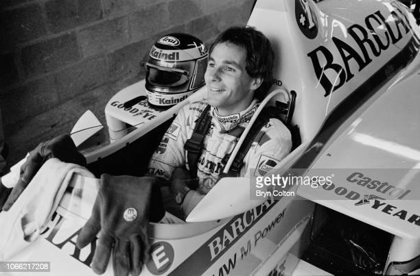 Formula One Grand Prix racing driver Gerhard Berger driving for ArrowsBMW sits in his car whilst waiting to compete in a qualifying session for the...