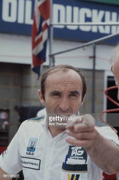 Formula One motor racing team manager Frank Williams of the Albilad Williams Racing Team pictured during the 1981 British Grand Prix at Silverstone...