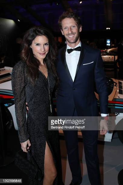 Formula One pilot Romain Grosjean and his wife journalist Marion Jolles attend the 35th International Automobile Festival at Hotel des Invalides on...