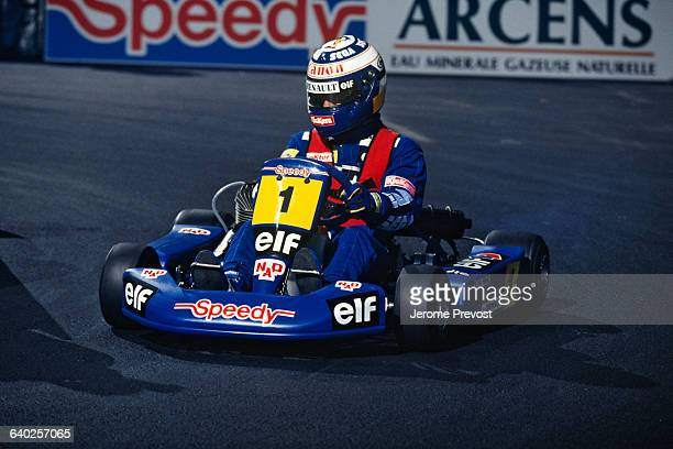 Formula One race car driver Alain Prost during Master Karting at Bercy Paris