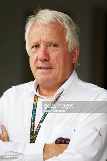 Formula One Race Director Charlie Whiting is seen before the Indian Formula One Grand Prix at Buddh International Circuit on October 27 2013 in Noida...
