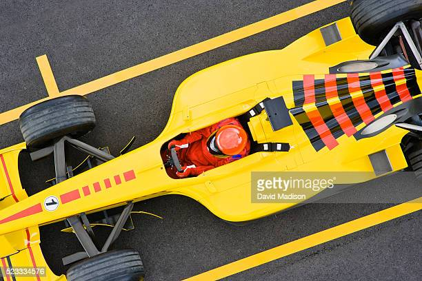 formula one racecar sitting on the grid - formula one grid stock pictures, royalty-free photos & images