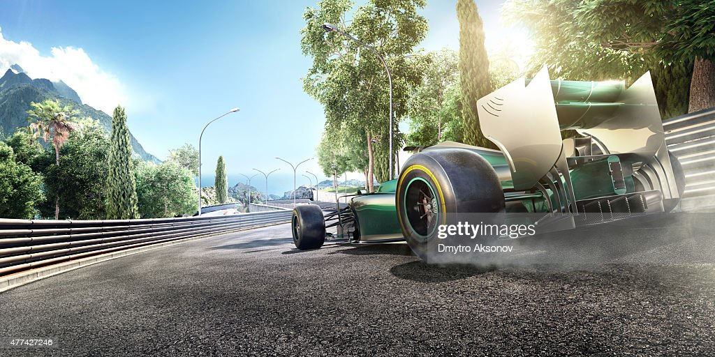 Formula One Racing Car on the track : Stock Photo