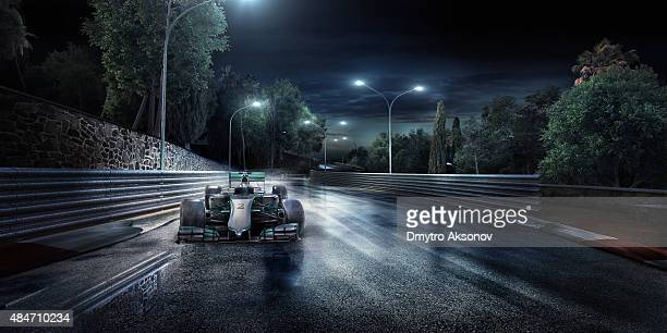formula one racing car on the track - racerbana bildbanksfoton och bilder