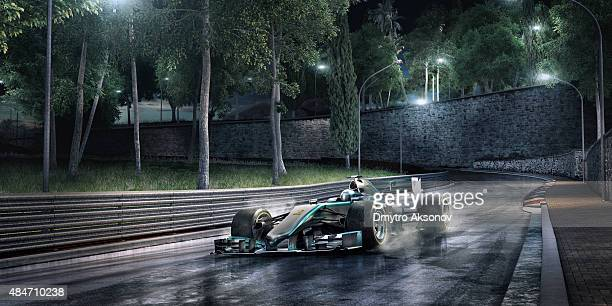 Formula One Racing Car on the track