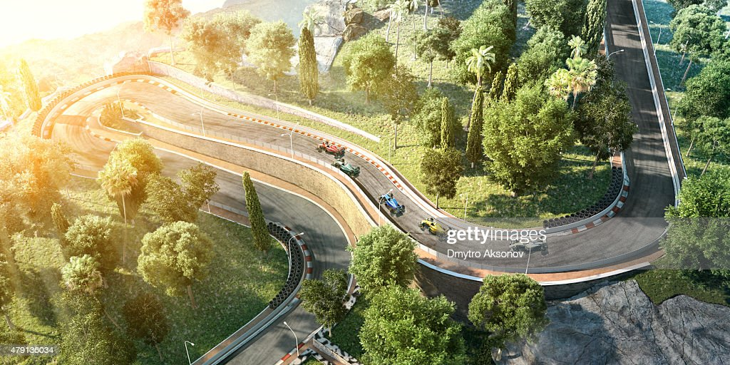 Formula One Racing Cars on the track : Stock Photo