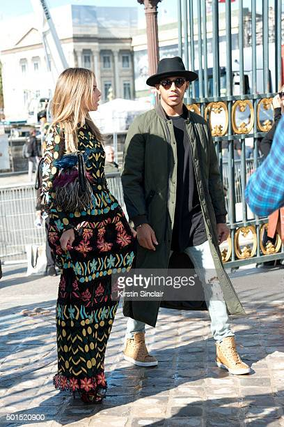 Formula One Racing driver Lewis Hamilton on day 8 during Paris Fashion Week Spring/Summer 2016/17 on October 6 2015 in Paris France Lewis Hamilton
