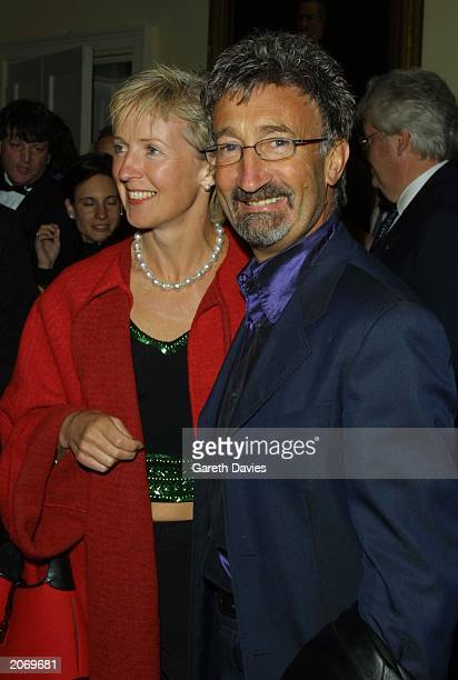 Formula One racing team manager for Jordan Grand Prix Eddie Jordan and his wife Marie at the party for Captain Corellis Mandolin at the In And Out...