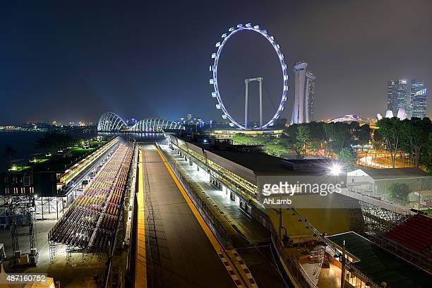formula one racing track, singapore - formula one racing stock pictures, royalty-free photos & images