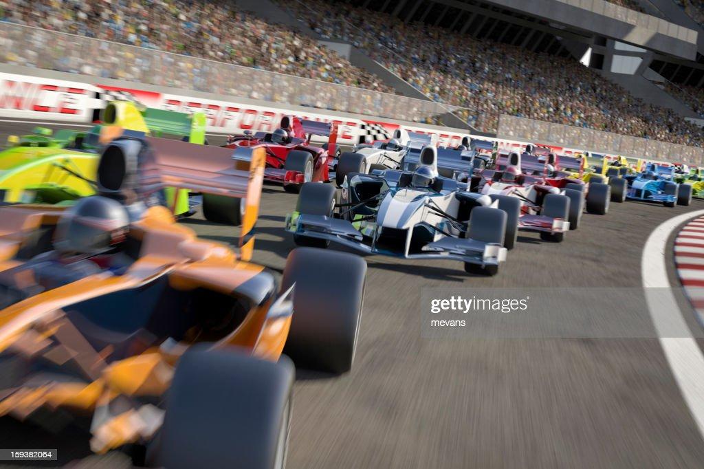 Tipo de corrida de Fórmula 1 : Foto de stock