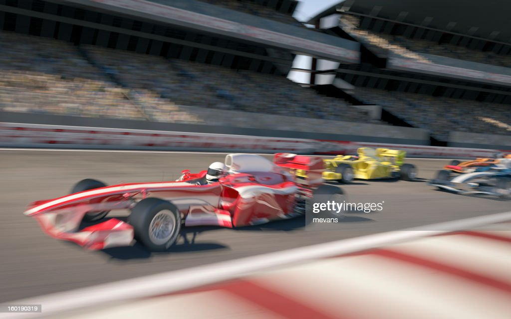 Formula One Type Racing : Stock Photo