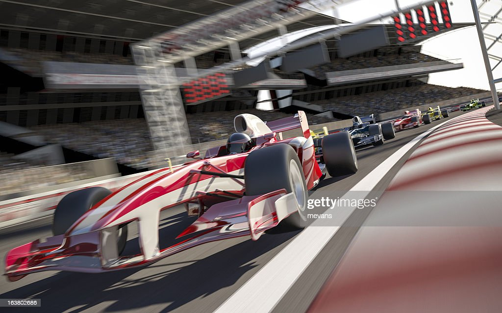 Formula One Type Racing : Stock Photo