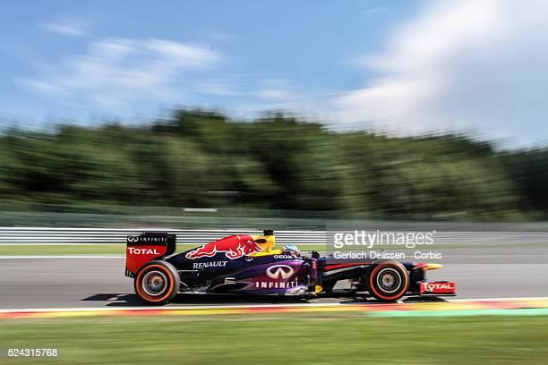 Formula One World Championship 2013, F1 Shell Belgian Grand Prix, #1 Sebastian Vettel of the Red Bull F1 team in action on Friday August 23rd