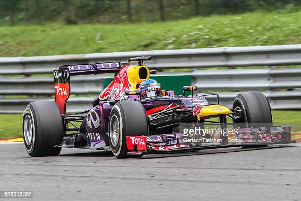 Formula One World Championship 2013, F1 Shell Belgian Grand Prix, #1 Sebastian Vettel of the Red Bull F1 team in action on Sunday August 25th