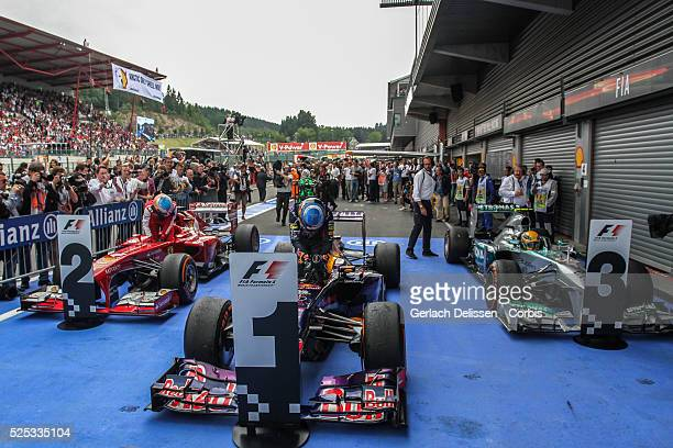 Formula One World Championship 2013, F1 Shell Belgian Grand Prix, #1 Sebastian Vettel of the Red Bull F1 team wins the race on Sunday August 25th
