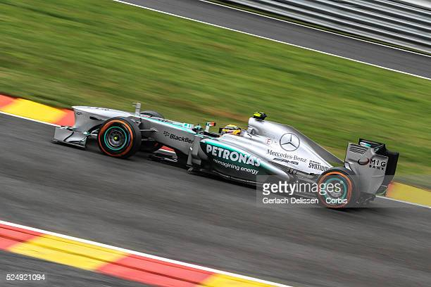 FIA Formula One World Championship 2013 F1 Shell Belgian Grand Prix #10 Lewis Hamilton of the Mercedes F1 team in action on Friday August 23rd