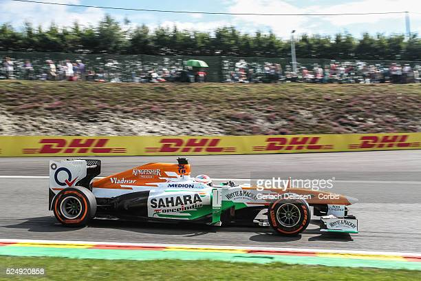 Formula One World Championship 2013, F1 Shell Belgian Grand Prix, #14 Paul Di Resta of the Force India F1 team in action on Friday August 23rd