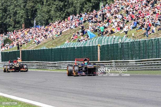 FIA Formula One World Championship 2013 F1 Shell Belgian Grand Prix #18 JeanEric Vergne of the Scuderia Torro Rosso F1 team in action on Friday...