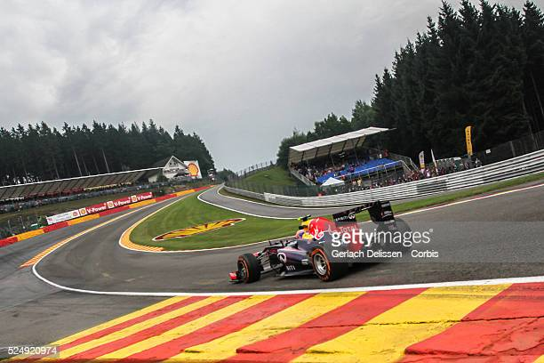 Formula One World Championship 2013, F1 Shell Belgian Grand Prix, #2 Mark Webber of the Red Bull F1 team in action on Friday August 23rd