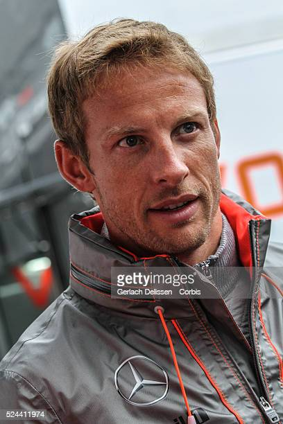 FIA Formula One World Championship 2013 F1 Shell Belgian Grand Prix #5 Jenson Button of the McLaren F1 team in the paddock on Sunday August 25th