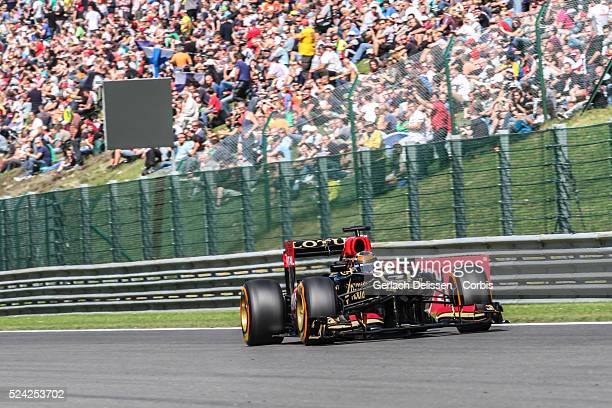 Formula One World Championship 2013, F1 Shell Belgian Grand Prix, #7 Kimi Raikkonen of the Lotus F1 team in action on Friday August 23rd