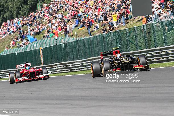 Formula One World Championship 2013, F1 Shell Belgian Grand Prix, #8 Romain Grosjean of the Lotus F1 team in action on Friday August 23rd