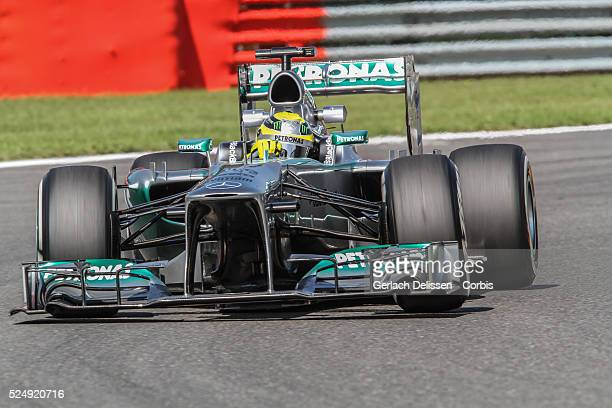 Formula One World Championship 2013, F1 Shell Belgian Grand Prix, #9 Nico Rosberg of the Mercedes F1 team in action on Friday August 23rd