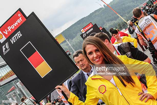 Formula One World Championship 2013, F1 Shell Belgian Grand Prix, Promotion girl on the grid on Sunday August 25th