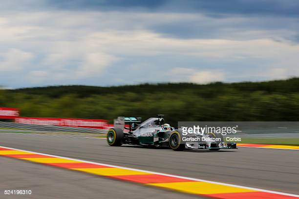 Formula One World Championship 2014, F1 Shell Belgian Grand Prix, Mercedes AMG Petronas F1 Team driver NLewis Hamilton in action at the...