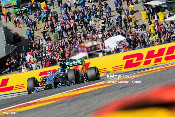 Formula One World Championship 2014, F1 Shell Belgian Grand Prix, Mercedes AMG Petronas F1 team driver Nico Rosberg in action during the race at the...