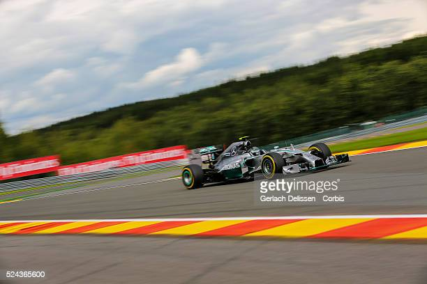 Formula One World Championship 2014, F1 Shell Belgian Grand Prix, Mercedes AMG Petronas F1 Team driver Nico Rosberg in action at the...