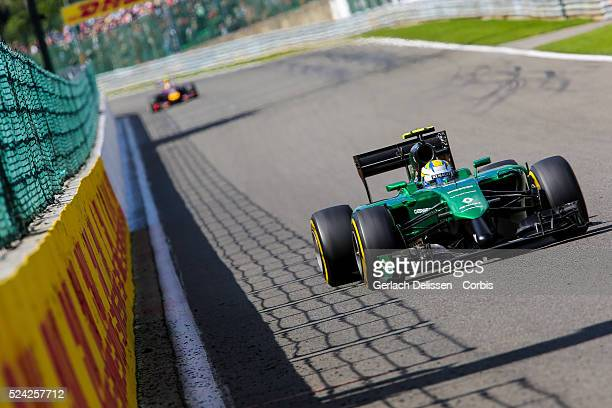 FIA Formula One World Championship 2014 F1 Shell Belgian Grand Prix Caterham F1 Team driver Marcus Ericsson in action during the race at the...
