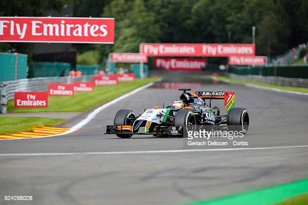 FIA Formula One World Championship 2014 F1 Shell Belgian Grand Prix Sahara Force India F1 Team driver Nico Hulkenberg in action at the...