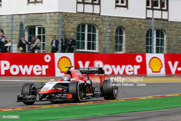 Formula One World Championship 2014, F1 Shell Belgian Grand Prix, Marussia F1 Team driver Alexander Rossi in action at the Spa-Francorchamps Circuit,...
