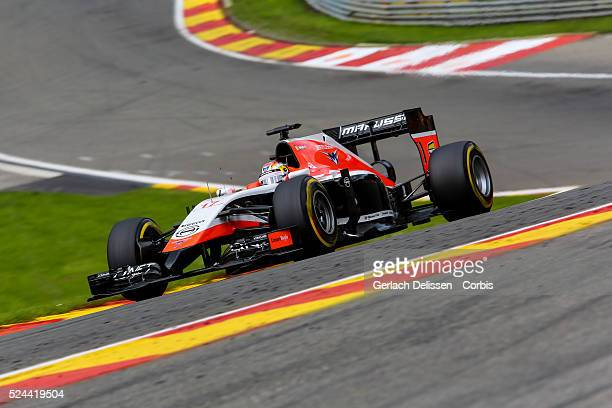Formula One World Championship 2014, F1 Shell Belgian Grand Prix, Marussia F1 team driver Jules Bianchi in action during the race at the...